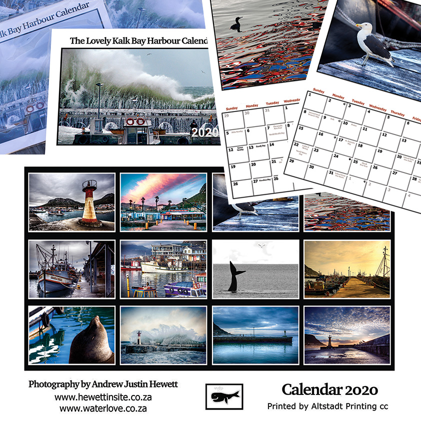 Fine Art photographic prints and calendars available for shipping worldwide - photographed by Andrew Hewett at Kalk Bay Harbour for hewettinsite